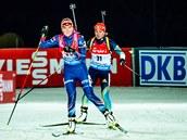 Gabriela Soukalová na trati vytrvalostního závodu v Östersundu.