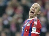 Arjen Robben z Bayernu Mnichov během duelu s Leverkusenem