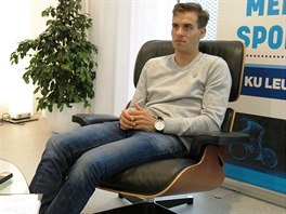 Zdeněk Štybar v Leuvenu, když oznamoval, že nepočítá s účastí na cyklokrosovém MS.