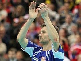Radim Cepek děkuje divákům na MS 2008.