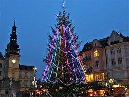 Vánoční strom v centru Ostravy