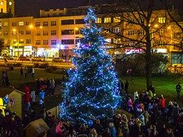 Vánoční strom v centru Zlína