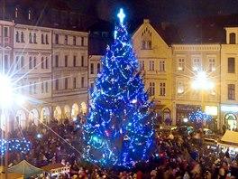 Vánoční strom v centru Liberce