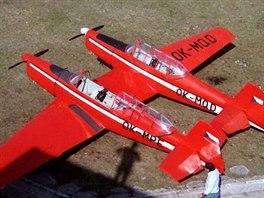 """Vtipnou nefunkční variaci pojmenovanou Twin Trener """"vyrobil"""" ze dvou Z-226 Peter Škabla."""