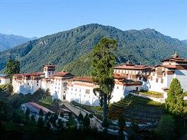 Pevnost (Dzong) v Trongsa je nejdelší v Bhútánu.