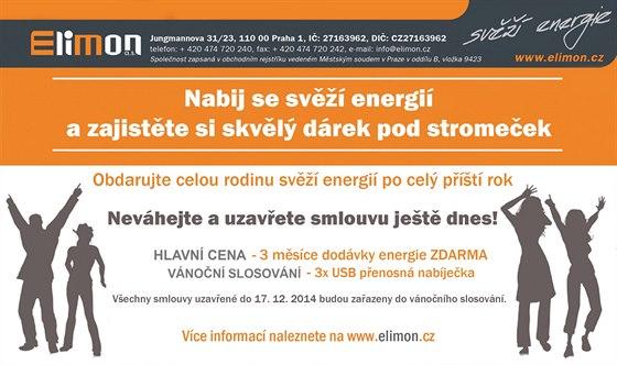 Elektřina a plyn: Svěží energie vane od ELIMONu - produkty na rok 2015