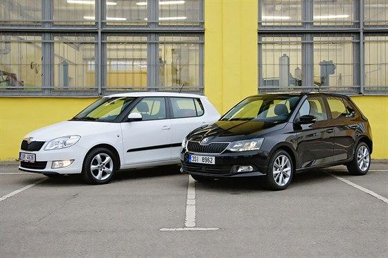 Škoda Fabia druhé a třetí generace