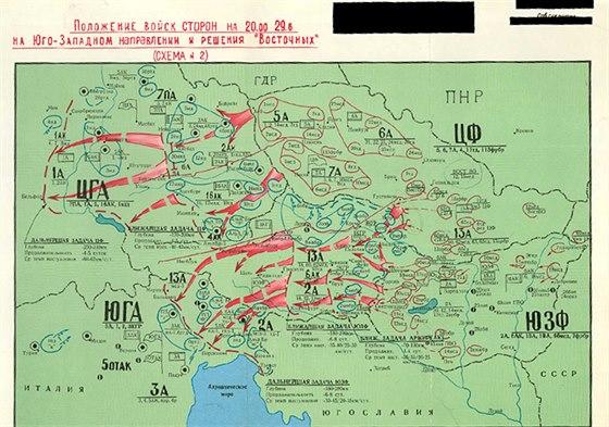 Schéma ofenzivní obrany v podání sovětských plánovačů