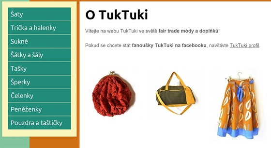 TuKTuki nab�z� fair trade oble�en� i dopl�ky z Afriky i z Asie.