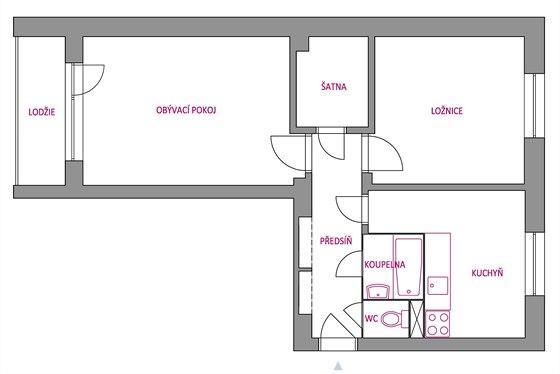 Řešení bytu 2+1