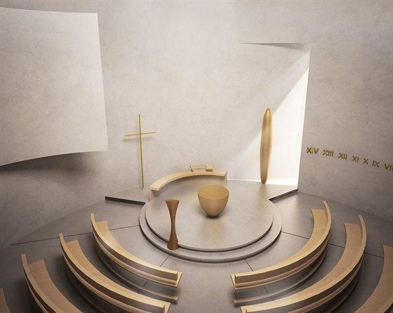 Vizualizace: interiér kostela