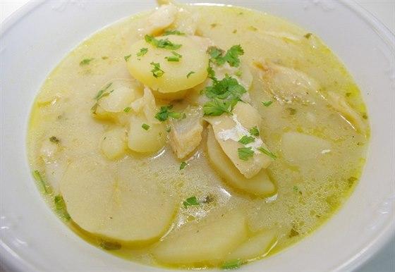 Legendární vánoční jídlo z chorvatského pobřeží. Bakalar, tedy sušená treska připravená s brambory.