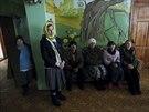 Pacienti psychiatrické kliniky v Slovjanoserbsku (1. prosince 2014)