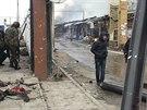 Následky útoků na čečenský Groznyj (5. prosince 2014)