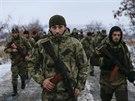 """Cvičení čečenského praporu """"Smrt"""" na území tzv. Doněcké lidové republiky. (8. prosince 2014)"""