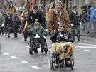 Američtí veteráni na vzpomínkové akci k  75. výročí Bitvy v Ardenách. (13. prosince 2014)