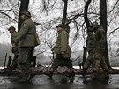 Belgie si o víkendu připomněla 75. výročí začátku Bitvy v Ardenách. Ofenziva představovala poslední pokus Němců zvrátit vývoj na západní frontě (13. prosince 2014)