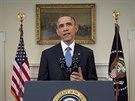 Americký prezident Barack Obama oznamuje změnu politiky vůči Kubě (17. prosince 2014)