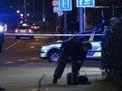 Dva muži přepadli v pražských Holešovicích policistu v civilu(10.12.2014)