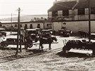 Ranní výjezd z pivovaru - 30. léta 20. století