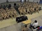 Ministr obrany Martin Stropnický při návštěvě Afghánistánu.