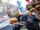 Itálii ochromila v pátek generální stávka. Tisíce lidí vyšly do ulic (12. prosince)