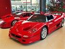 Ferrari F50, v pozadí F40 a 288 GTO