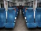 Modernizované vozy nasadí Dráhy hlavně na dálkové vlaky. Na snímku vůz abpee, který modernizovala polská Pesa.