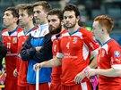 Čeští florbalisté po prohře s Finskem v semifinále mistrovství světa.