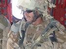 Letecký návodčí P. E. během nasazení v Afghánistánu