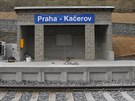 Nová železniční zastávka na pražském Kačerově.