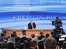 Rusk� prezident Vladimir Putin p�i v�ro�n�m projevu (18. prosince 2014)