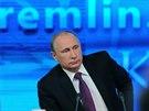 Ruský prezident Vladimir Putin při výročním projevu (18. prosince 2014)