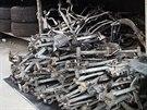 Odhalený sklad kradených náhradních dílů, který patřil překupníkovi z Novojičínska, připomínal dobře vybavenou prodejnu.