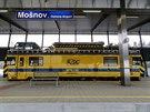 V�tejte na nov�m n�dra�� v Mo�nov�, koleje spojuj� leti�t� se Stud�nkou a d�le se �elezni�n� s�t�. (16. prosince 2014)