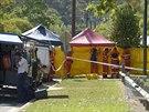 Z�chran��i v australsk�m m�st� Cairns. Na jeho p�edm�st� nezn�m� �to�n�k zabil osm d�t�.