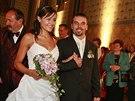 Petr Novotný a Lenka Novotná se svým nastávajícím manželem Janem Fialou na cestě k oltáři (2007)