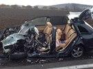 Řidič fabie vyjel u Kutné hory do protisměru, kde se čelně srazil s tahačem. Na místě zemřel.