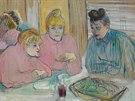 Henri de Toulouse-Lautrec: D�my v j�deln� (1893)