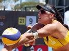 Martina Bonnerová na turnaji v jihoafrickém Mangaungu.