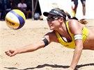 Barbora Hermannová na turnaji v jihoafrickém Mangaungu.