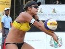 Martina Bonnerová  na turnaji Světového okruhu v jihoafrickém Mangaungu.