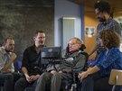 Tým společnosti SwiftKey (Stephen Spencer, SwiftKey, Joe Osbourne, Swiftkey), Hawkingův osobní asistent a Lama Nachmanová z Intelu