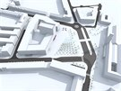 Vítězný návrh nového komplexu budov ve tvaru ulity, který vyroste v Hradci Králové u hlavního nádraží místo hotelu Černigov (9.12.2014).