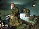 P�i sp�nku se voj�ci zimou t��st nebudou, k dispozici maj� vyt�p�n� stany.
