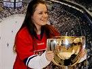 Hokejoví fanoušci měli jedinečnou šanci zapózovat si s pohárem pro mistry světa.