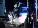 Řidička golfu po čelní srážce u Buštěhradu zemřela.