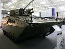 Prototyp modernizovan�ho bojov�ho vozidla p�choty �akal se mimo jin� v kv�tnu p�edstavil na Mezin�rodn�m veletrhu obrann� techniky IDEB 2014 v Bratislav�.