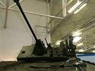 Prototyp modernizovan�ho bojov�ho vozidla p�choty �akal se mimo jin� v kv�tnu p�edstavil na Mezin�rodn�m veletrhu obrann� techniky IDEB 2014 v Bratislav�. Pohled na namontovan� slovensk� v�ov� komplet TURRA 30.