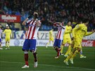 Mario Mandžukič z Atlética Madrid lituje spálené šance v duelu s Villarrealem.